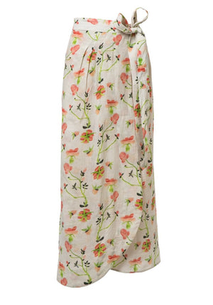 Dianthus Rose Linen Selby Wrap Skirt