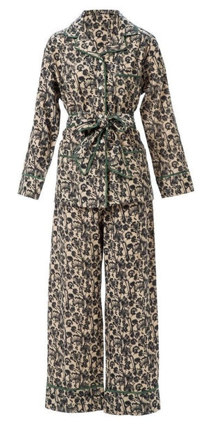 Blossfeldt Flower Chambray Pajama Set