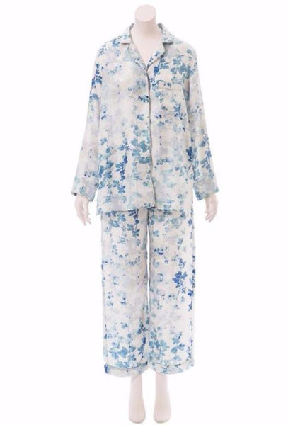 Brambles Light Blue Silk Pajama Set