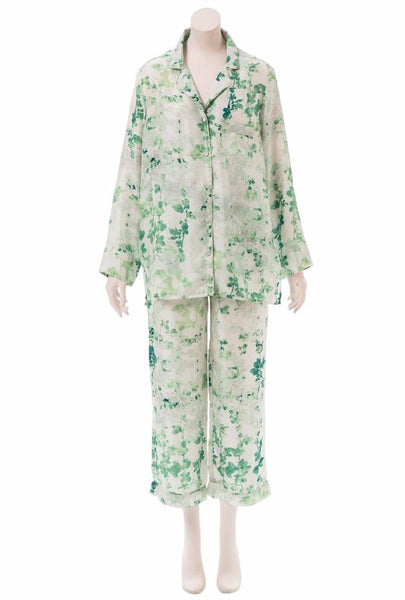 Brambles Light Green Silk Pajama Set