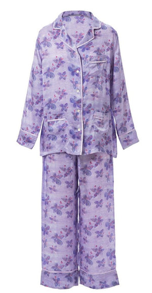 Passion Flower Cotton Pajama Set
