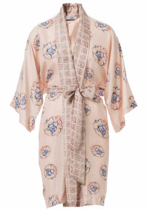 Load image into Gallery viewer, Phoebe Flower Silk Robe de Chambre
