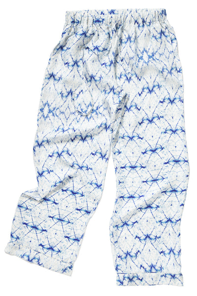 Wavelengths Blue Silk Pajama Set