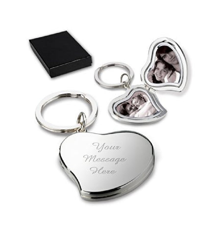 Personalised Heart Locket Keyring CAN BE ENGRAVED - Engrave It Online