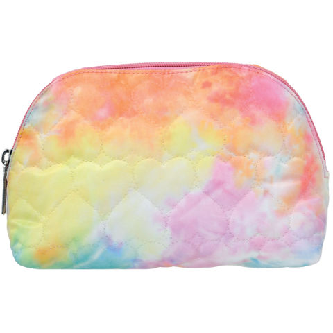 Cotton Candy Heart Oval Cosmetic Bag