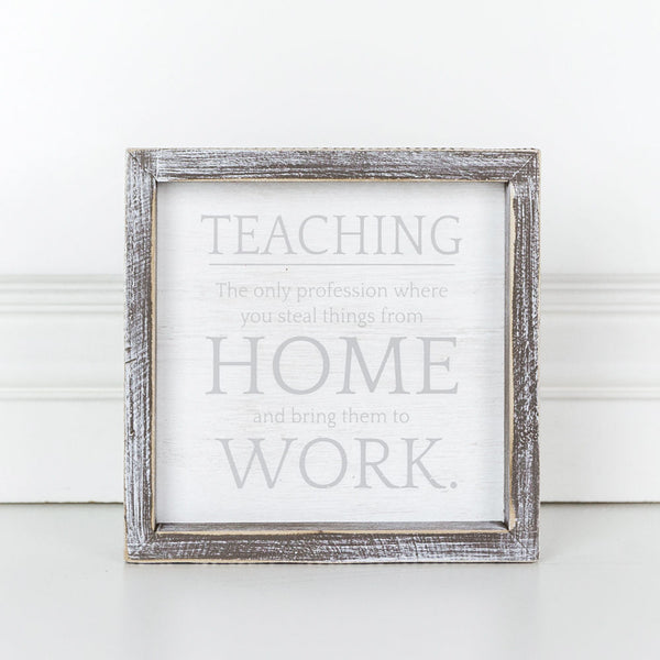 Wood Framed Teaching Art