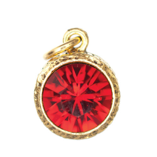 Beaucoup January Garnet Birthstone Charm