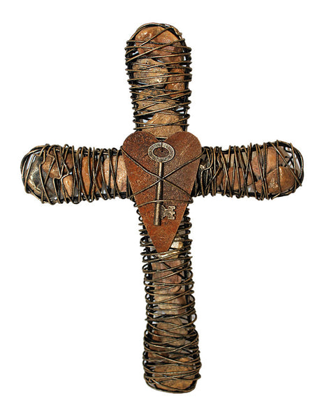 Stone Filled Faith Cross