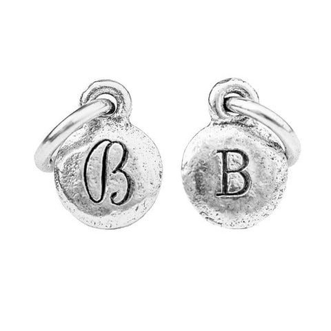 Petite Sterling Silver Monogram Charms