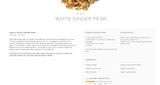 White Ginger Pear Loose Tea by Tea Forte