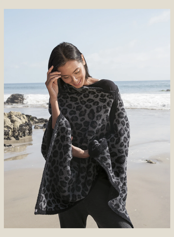 Leopard Poncho by Barefoot Dreams