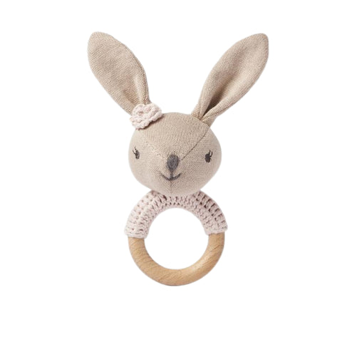 Bunny Wooden Baby Rattle
