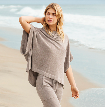 Cowl Neck Poncho by Barefoot Dreams