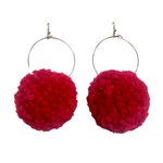 Valentine Pom Pom Earrings