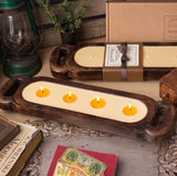 Wooden Candle Tray by Himalayan Trading Post