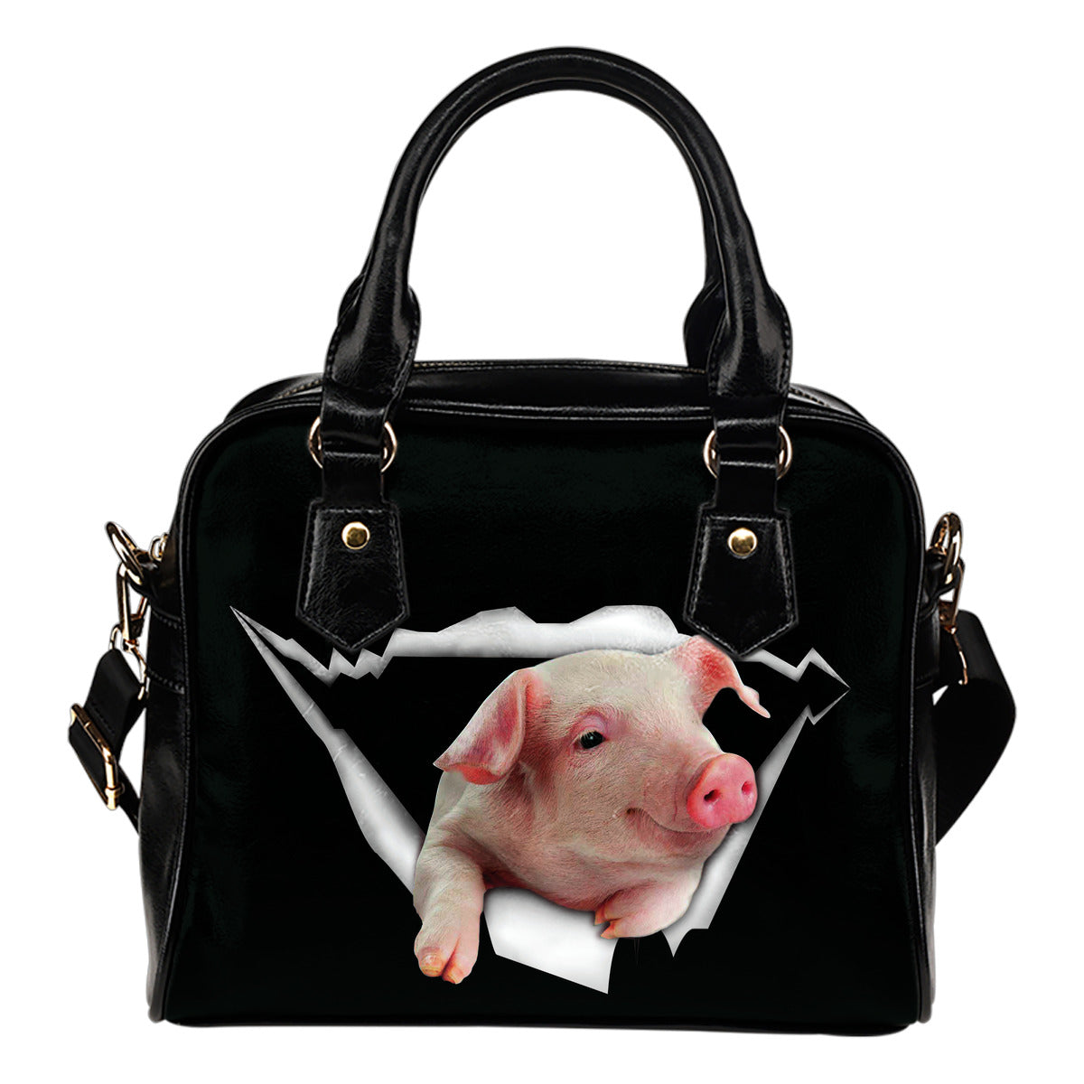 Cute Pig Shoulder Handbag