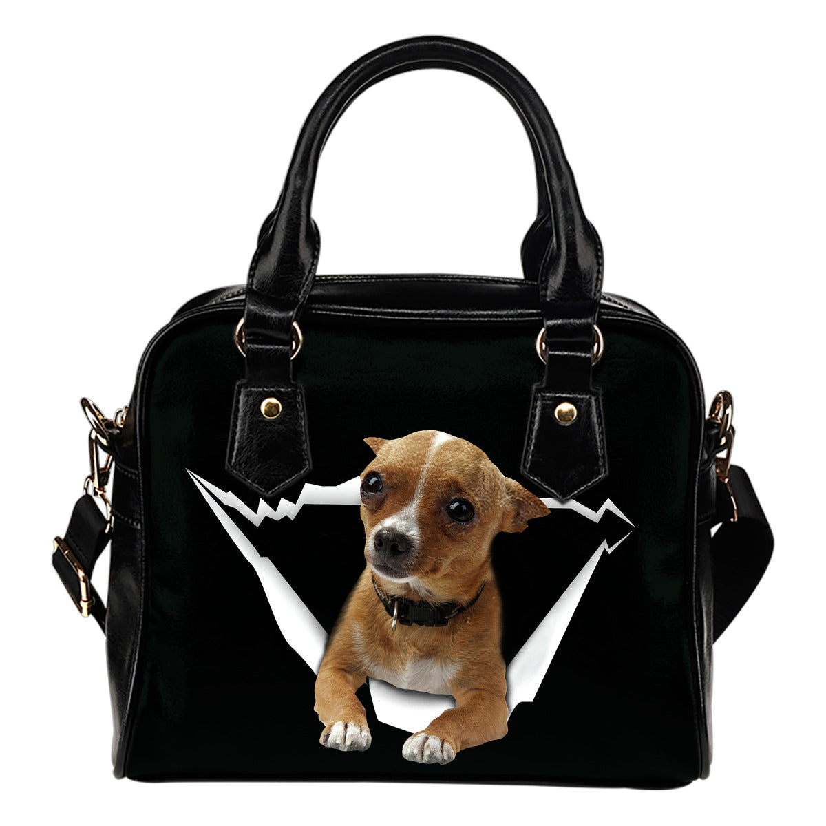 Chihuahua Hole Shoulder Handbag