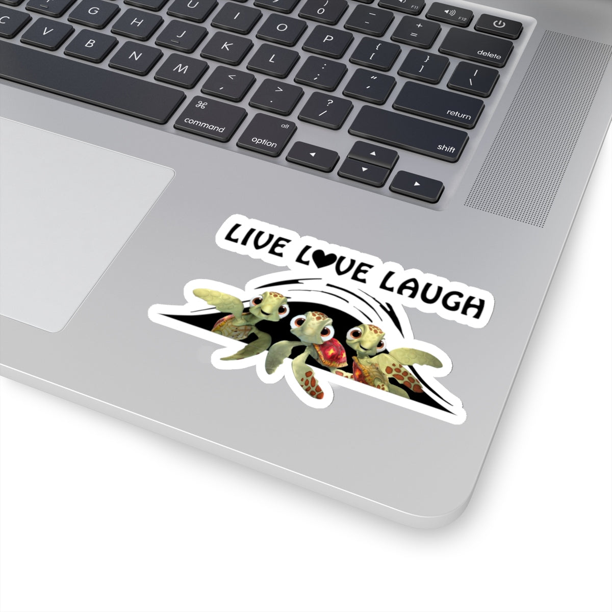 Live Love Laugh Turtle Kiss-Cut Stickers