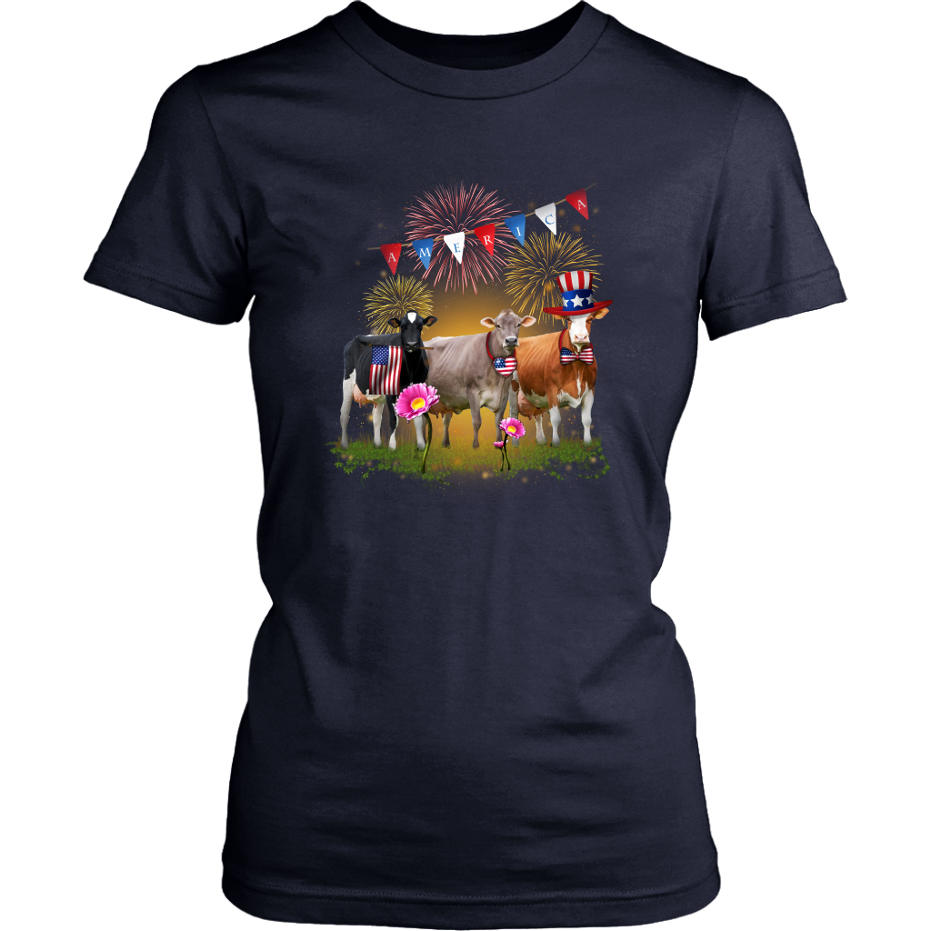 Cow With America Holiday T-Shirt