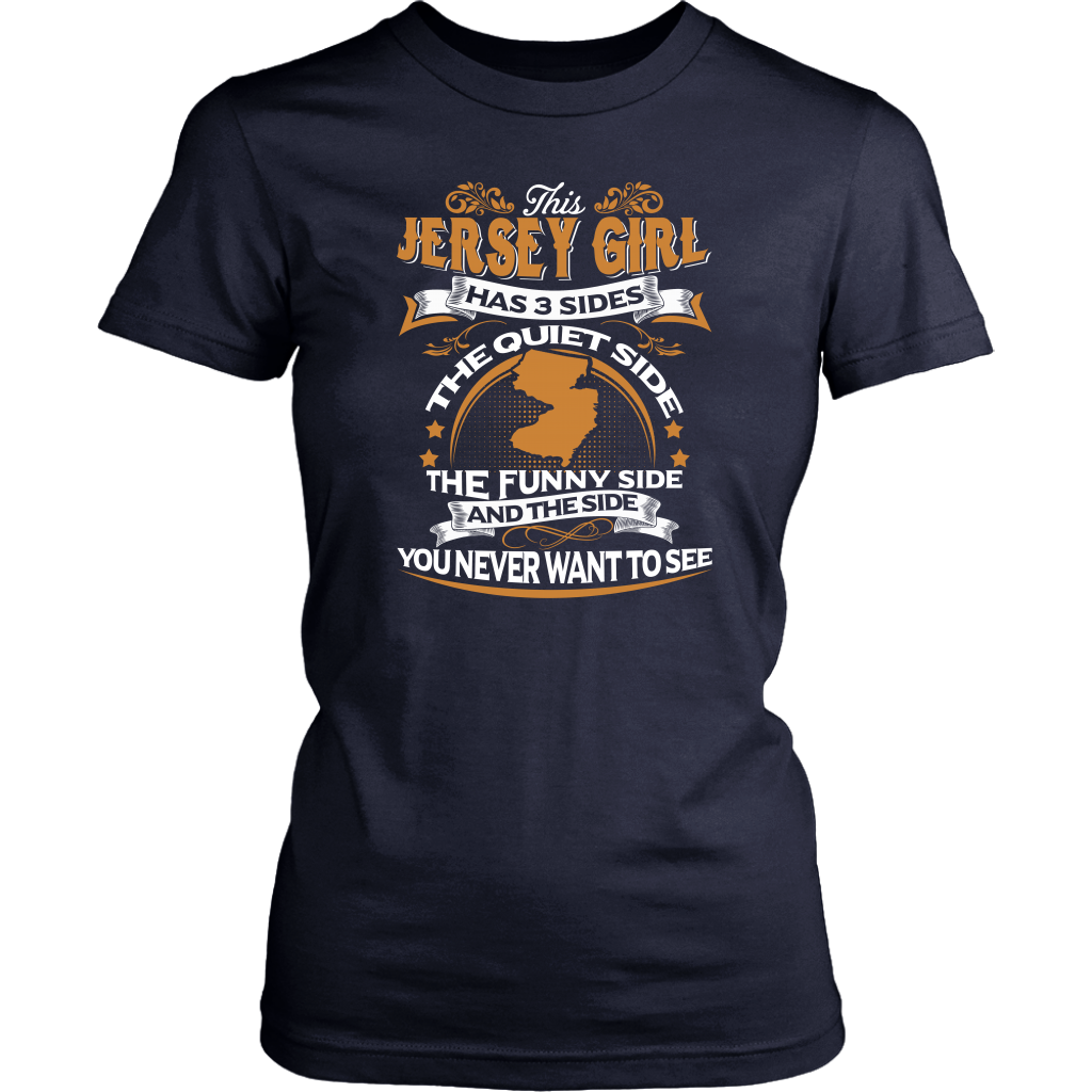 This Jersey Girl Has 3 Sides T-Shirt