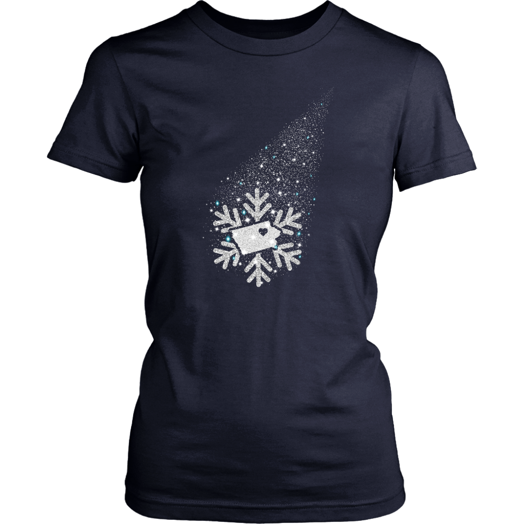 Iowa Snow Flower T- Shirt