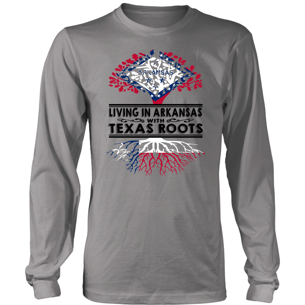 Living Arkansas With Texas Roots T- Shirt