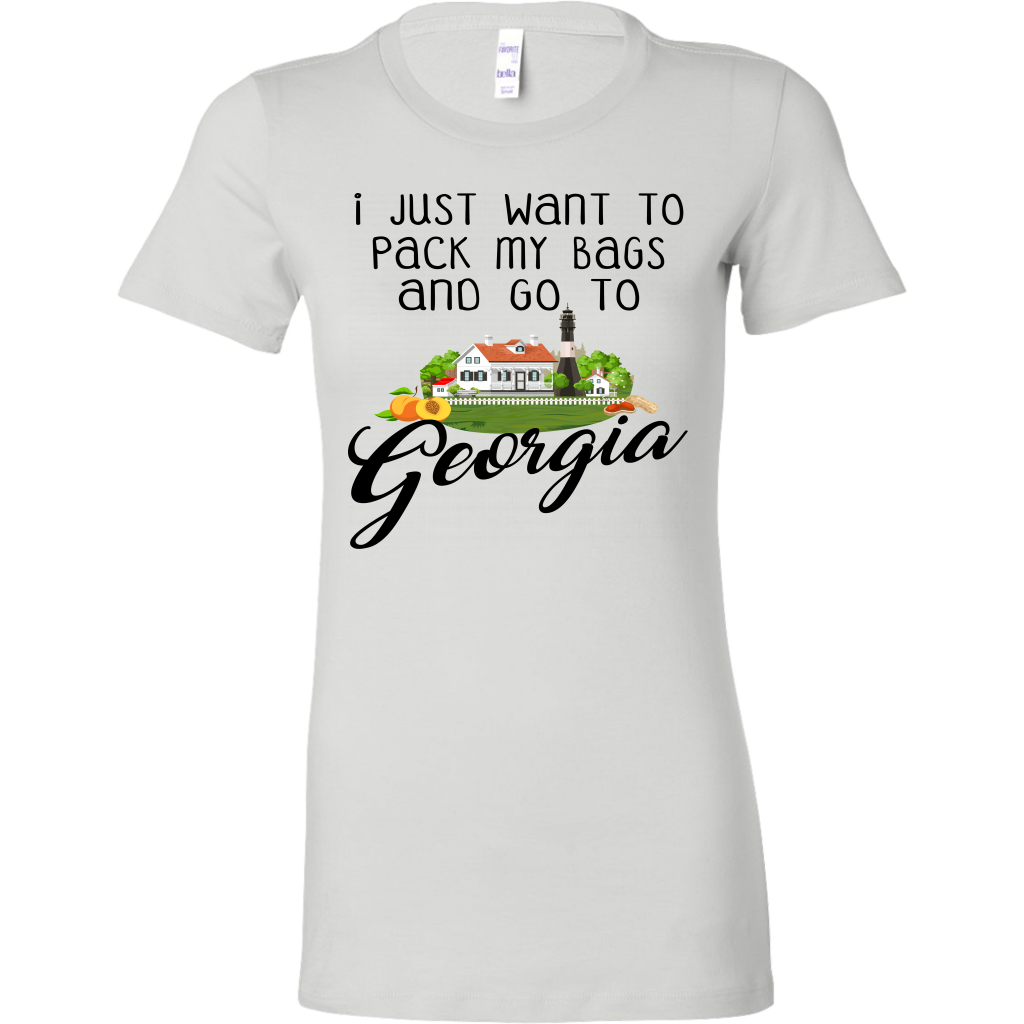 I Just Want To Pack My Bags And Go To Georgia T-Shirt