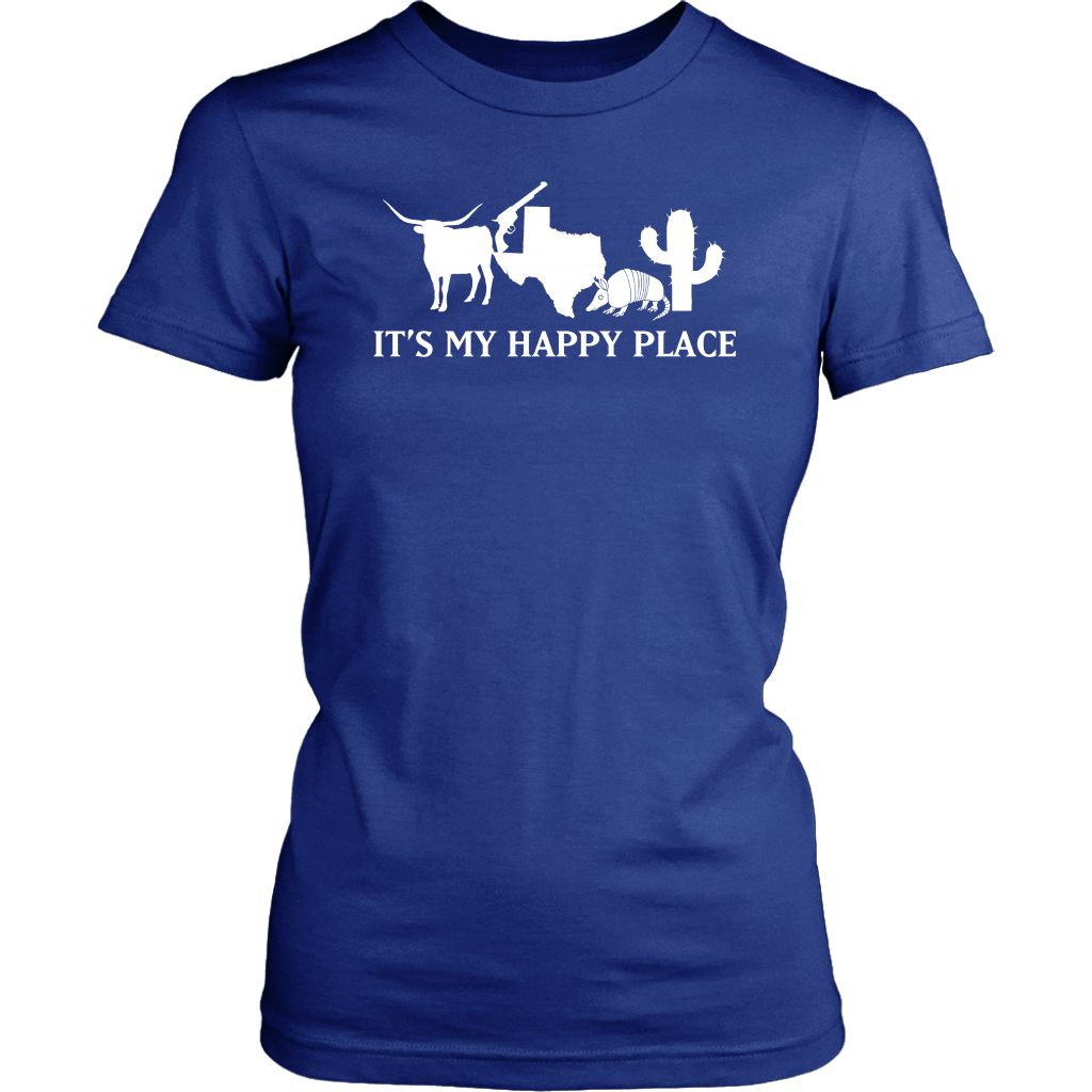 Texas It's My Happy Place T- Shirt