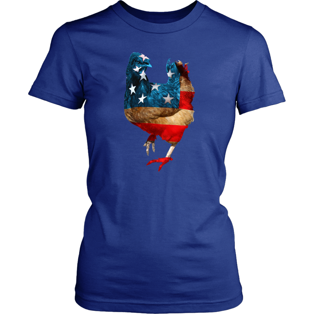 Chicken American Flag T Shirt