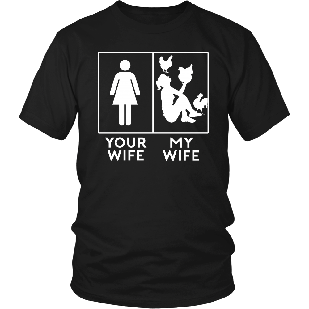 MY WIFE AND CHICKENS - T-shirt Teezalo LLC