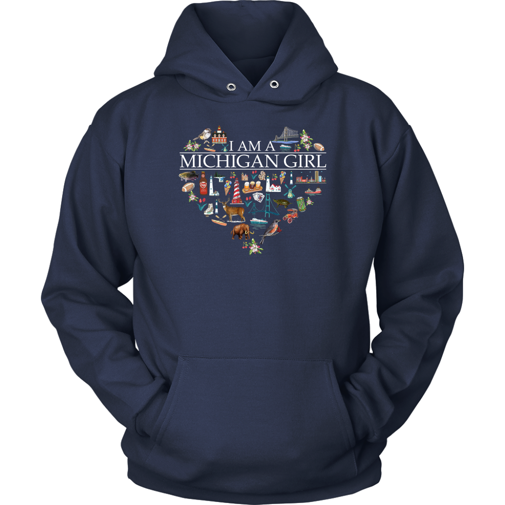 I Am A Michigan Girl Crewneck Sweatshirt