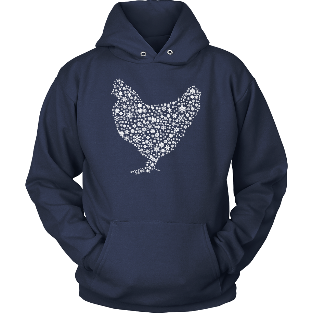 Snowflakes Chicken T Shirt