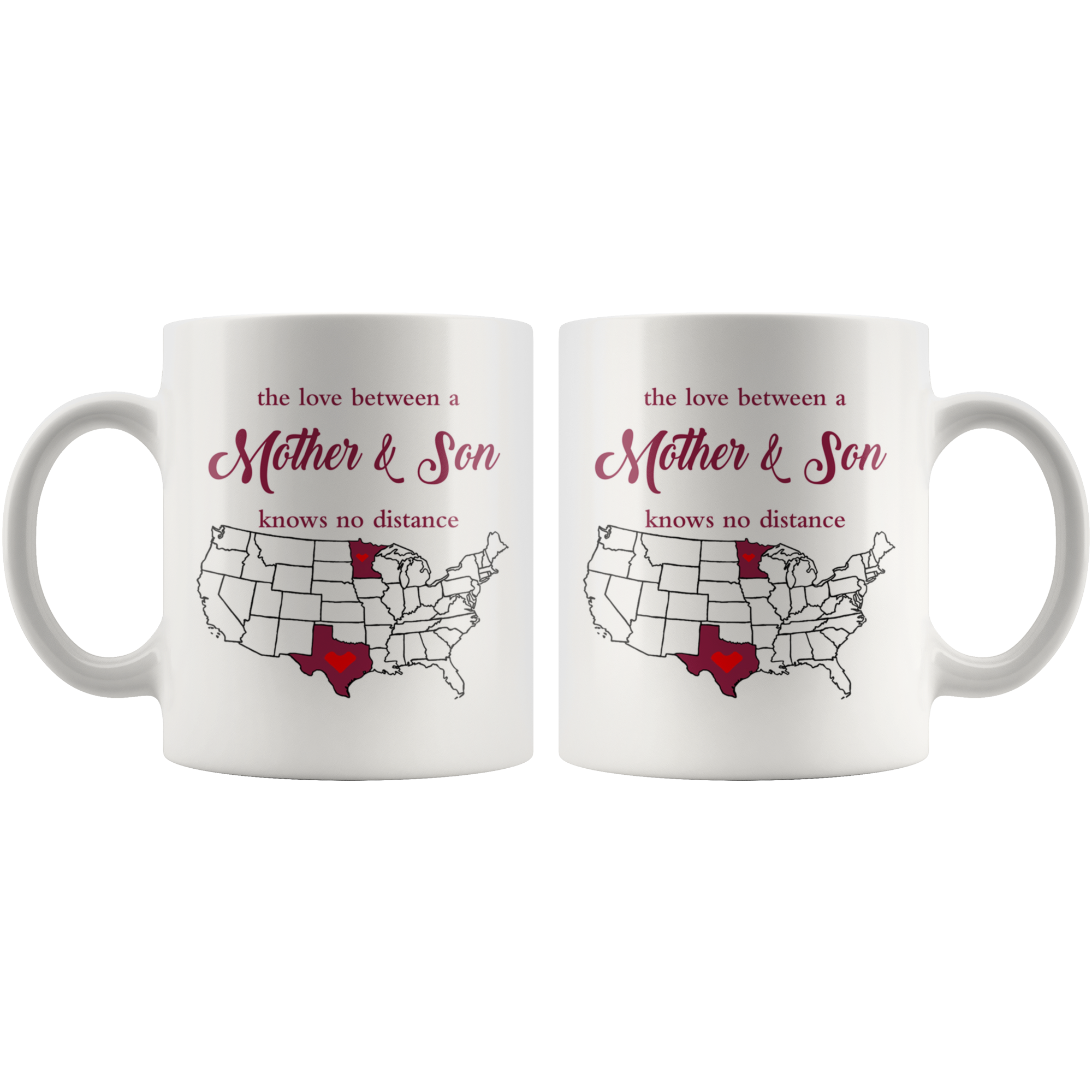 Minnesota Texas The Love Between A Mother And Son Mug