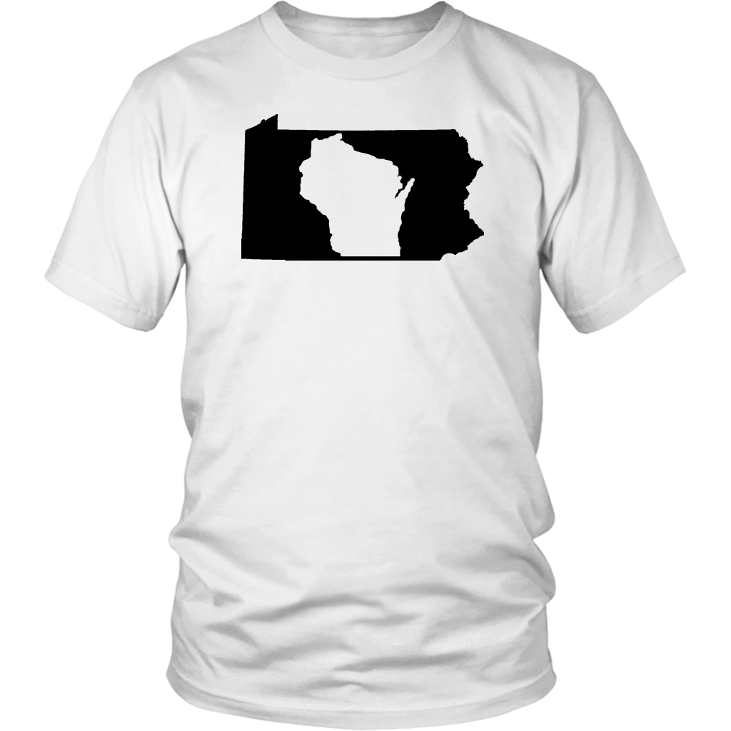 Living In Pennsylvania And You're From Wisconsin T-shirt