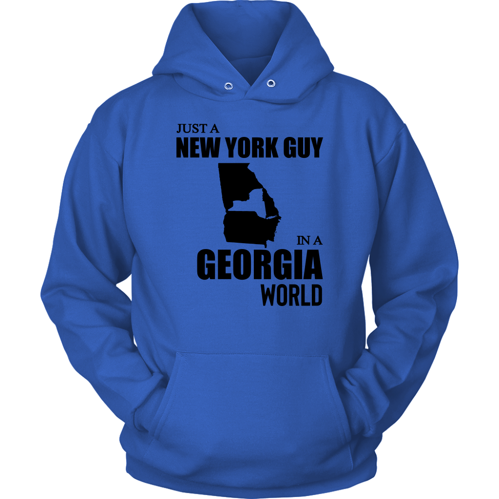 Just A New York Guy In A Georgia World T-Shirt