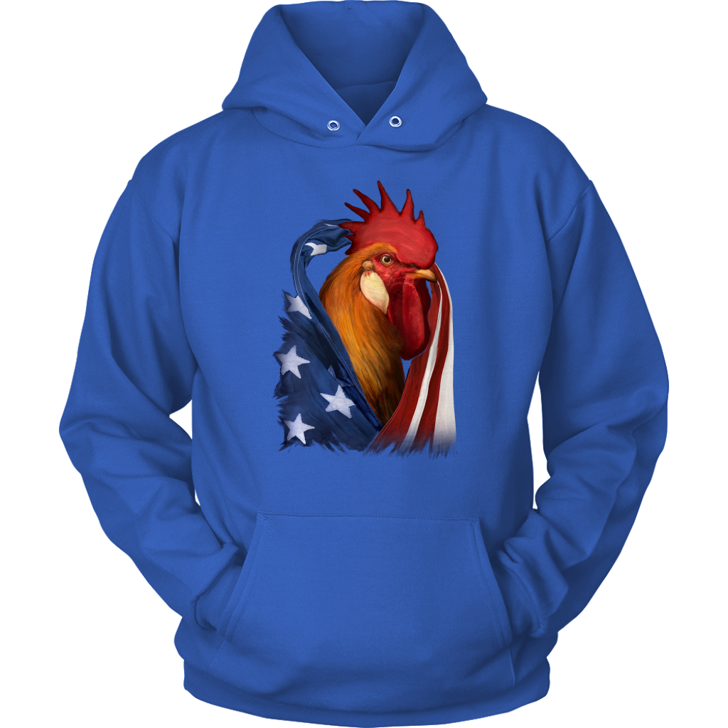 Chicken and American flag shawl T Shirt