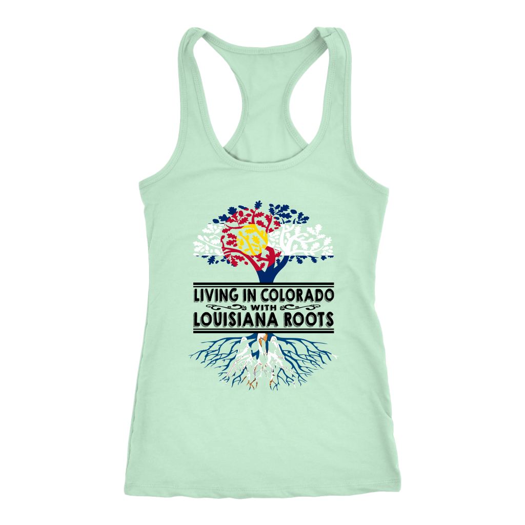 Living In Colorado With Louisiana Roots T-shirt