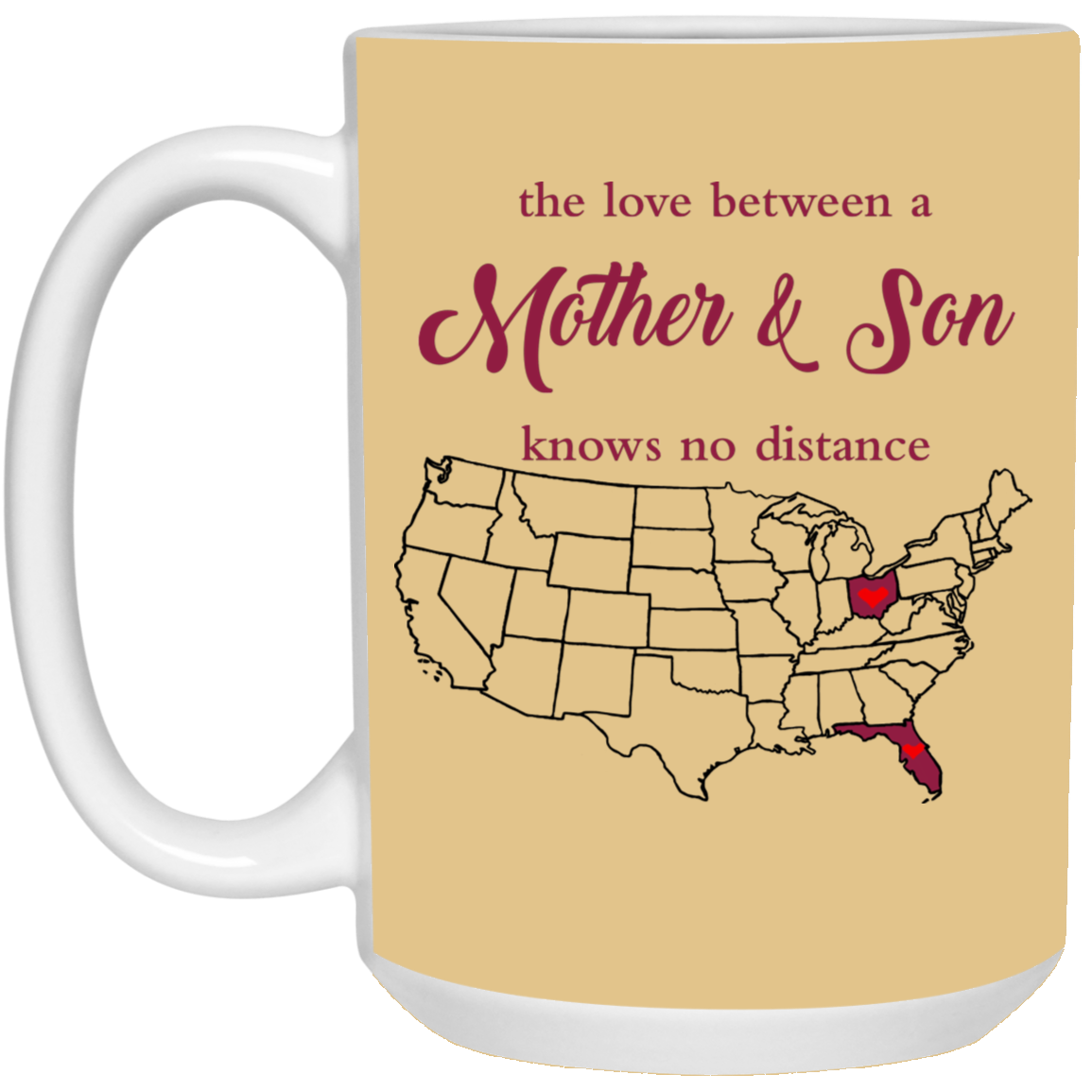 Ohio Florida The Love Mother And Son Mug