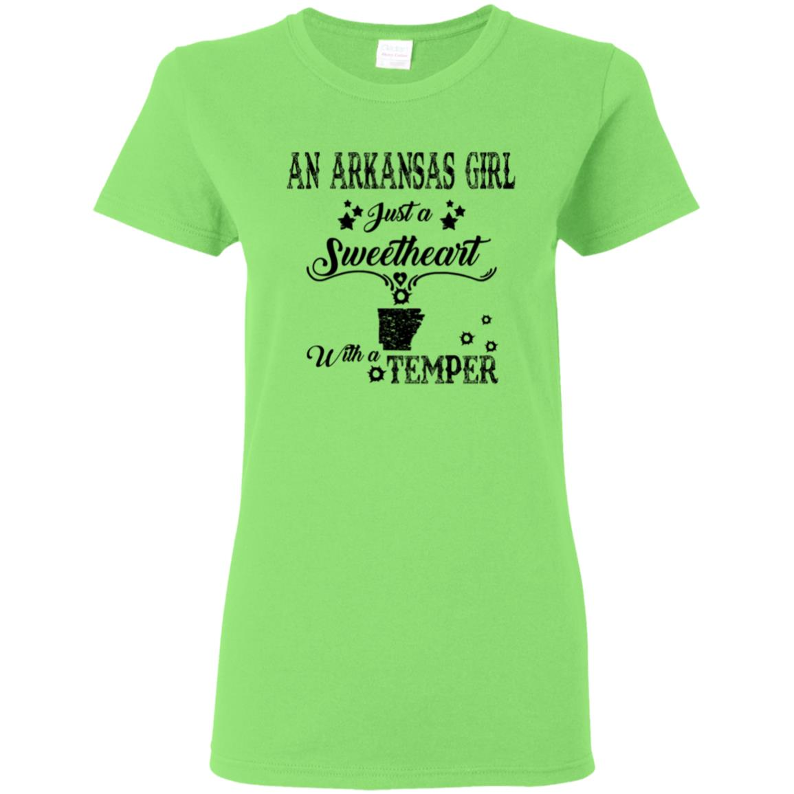 An Arkansas Girl Just A Sweetheart With A Temper T-Shirt