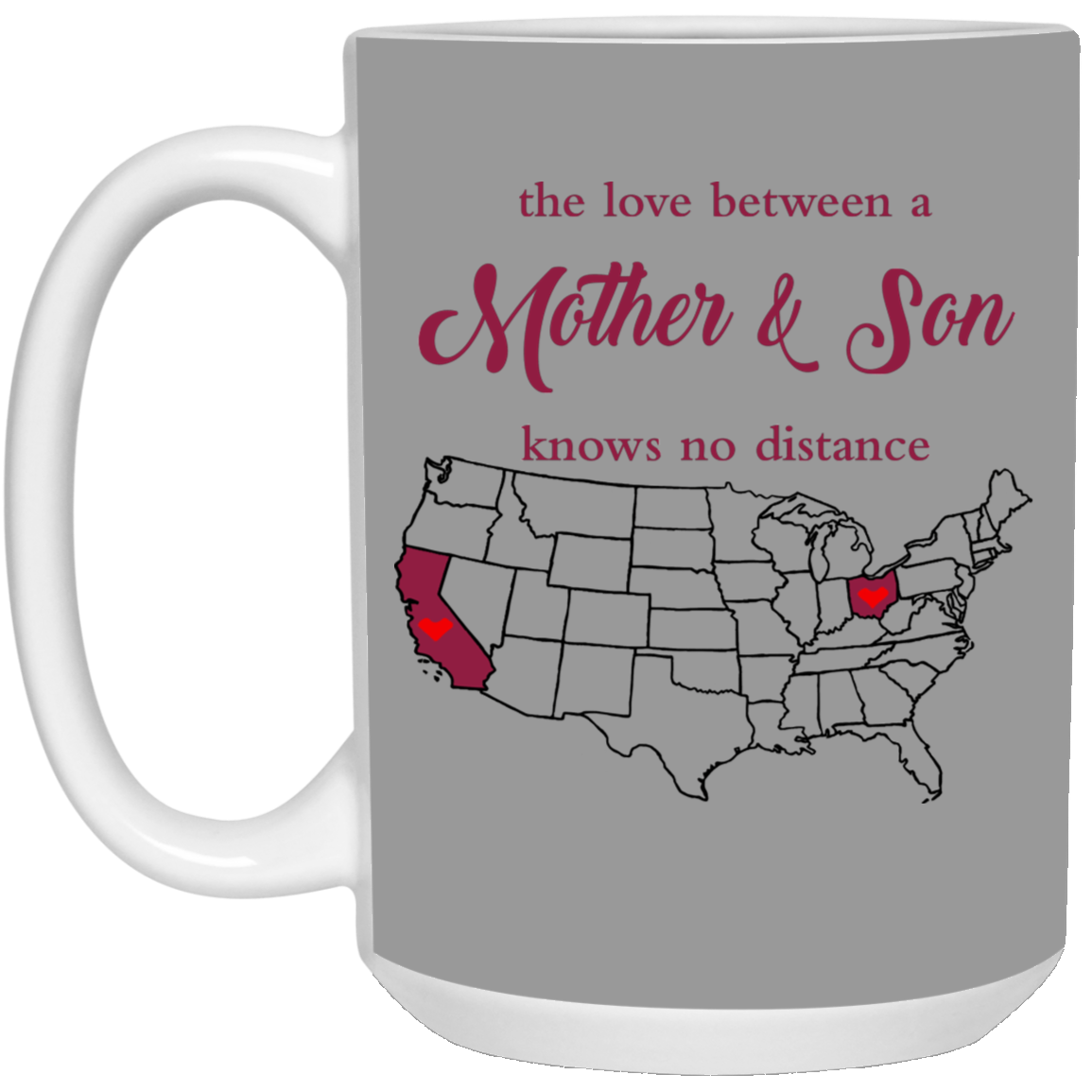 OHIO CALIFORNIA THE LOVE MOTHER AND SON