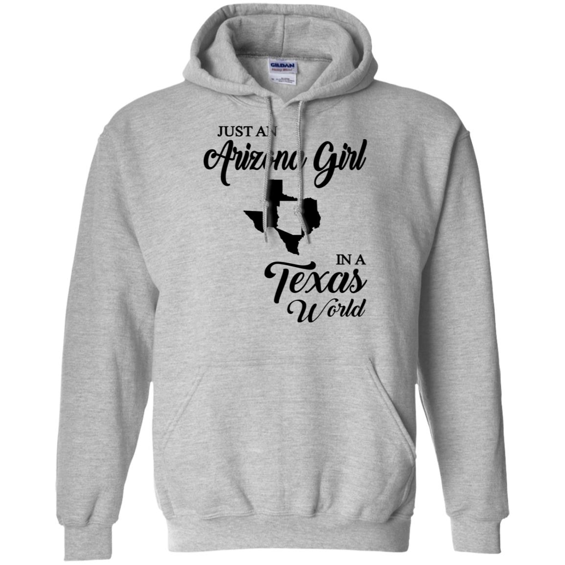 Just An Arizona Girl In A Texas World Hoodie