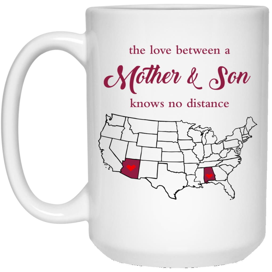 Arizona Alabama The Love Between Mother And Son Mug