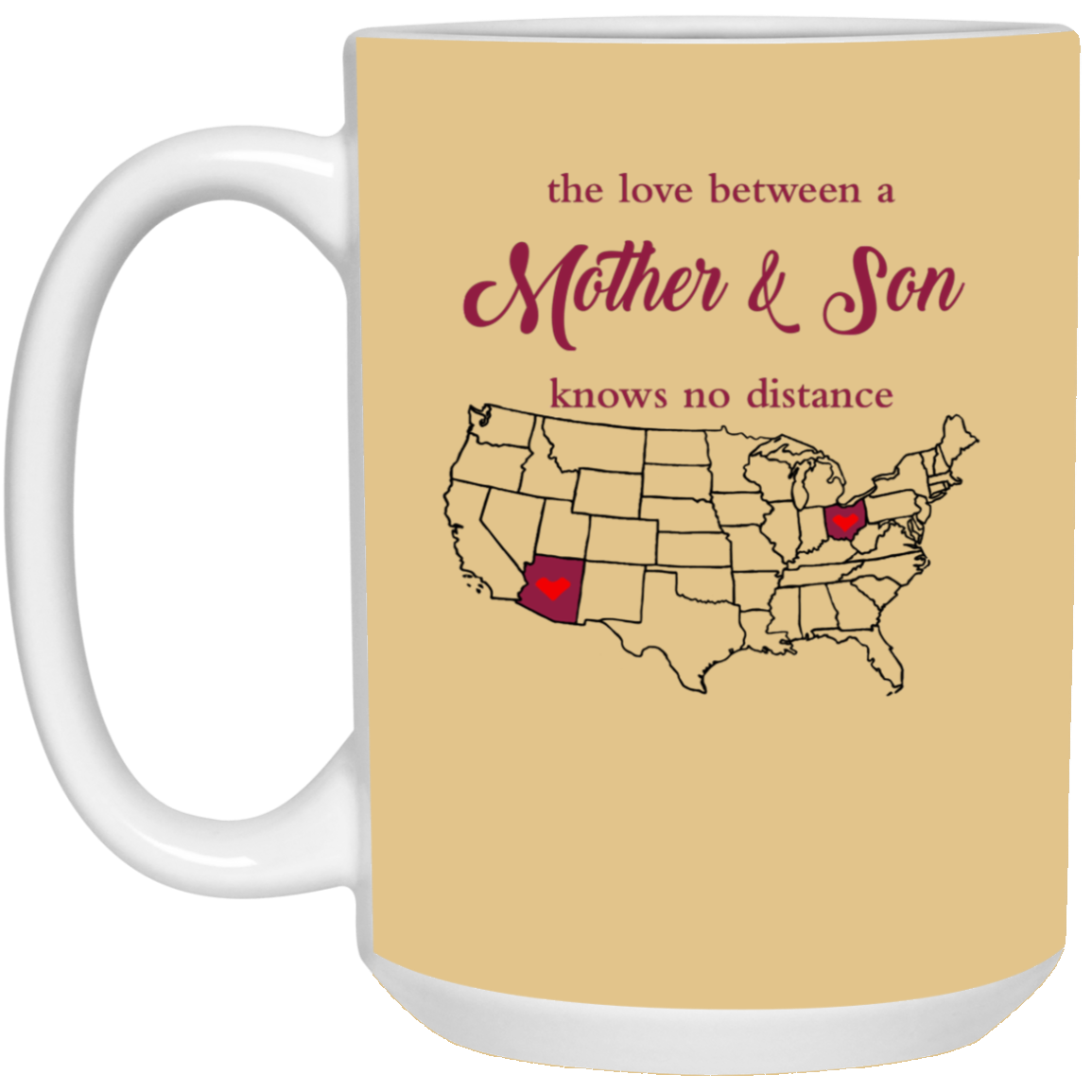 Ohio Arizona The Love Mother And Son Mug