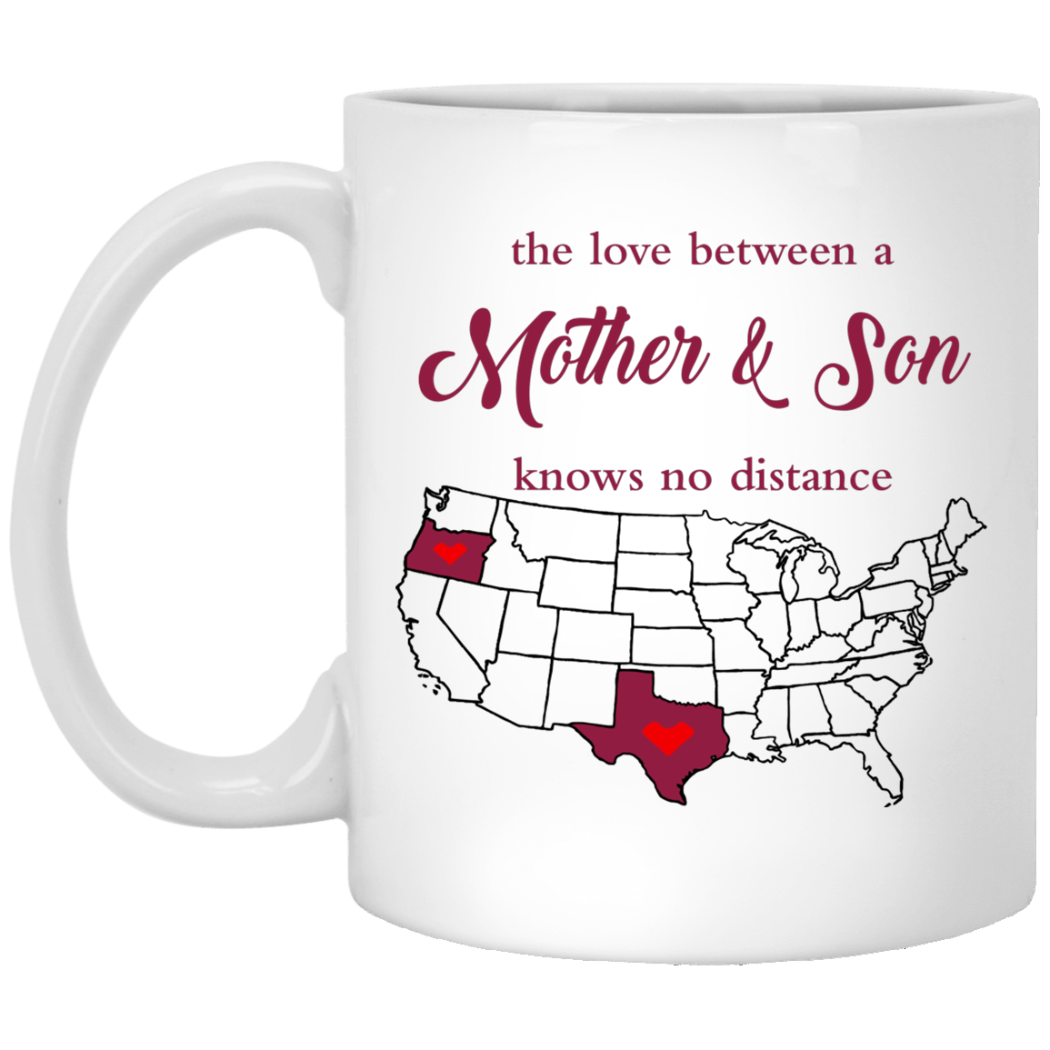 Oregon Texas The Love Mother And Son Mug