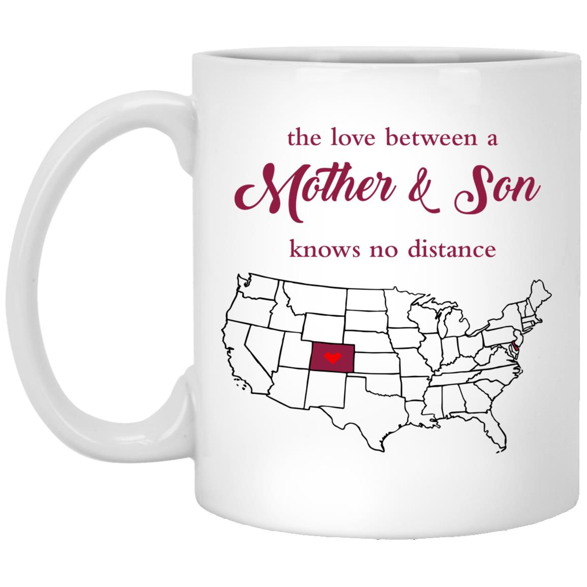 Colorado Delaware The Love Between Mother And Son Mug