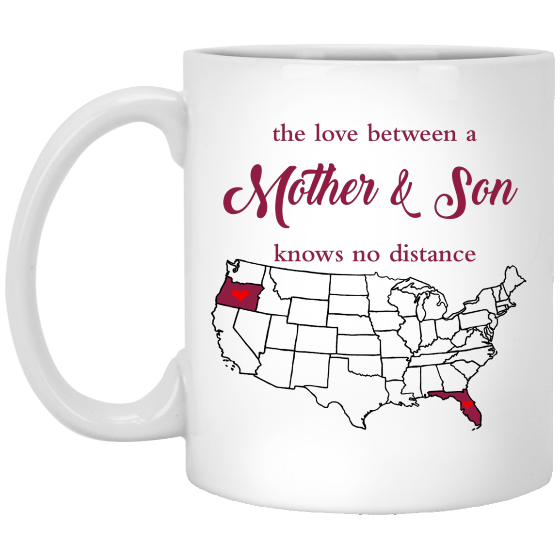 Oregon Florida Mother And Son Mug