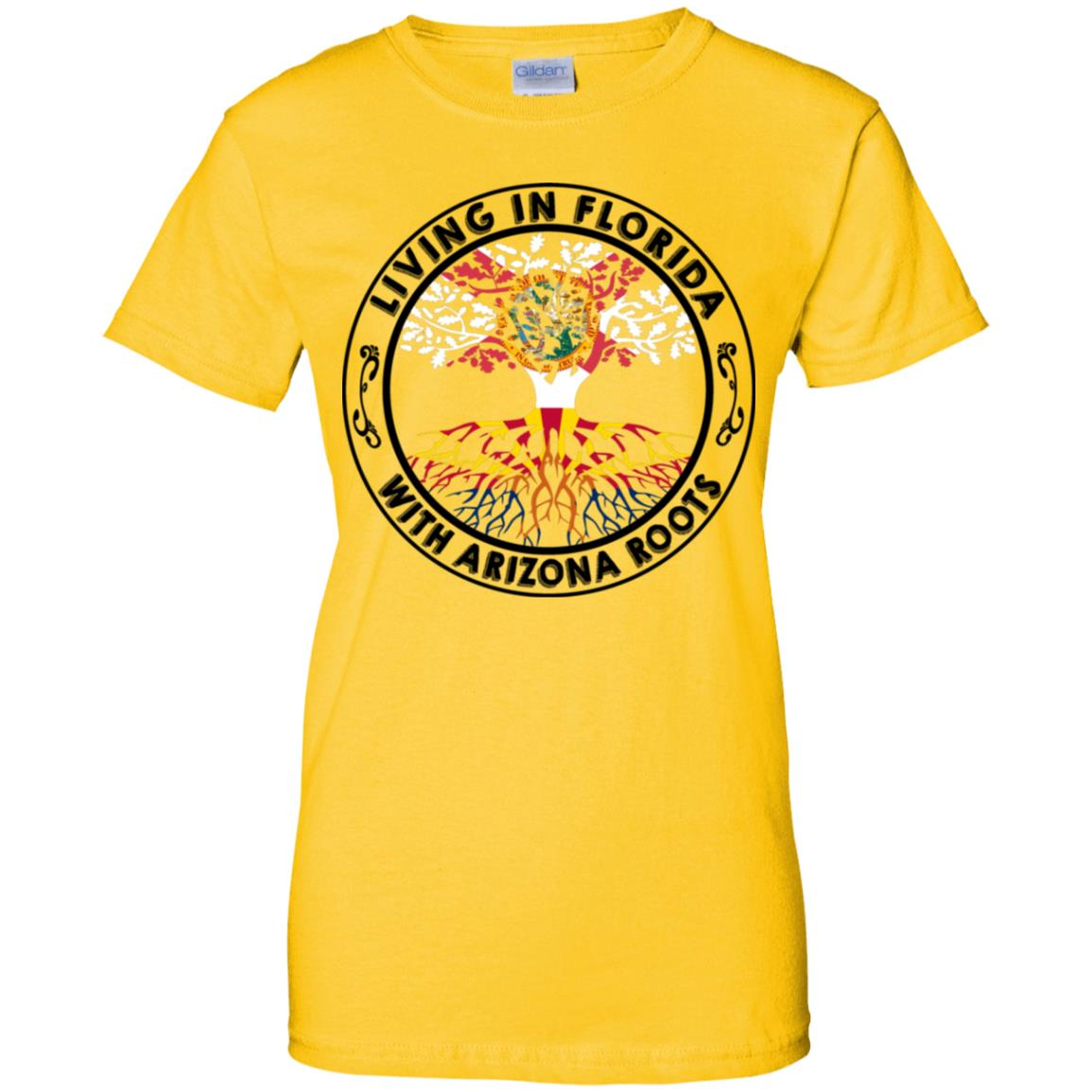 Living In Florida With Arizona Roots T Shirt