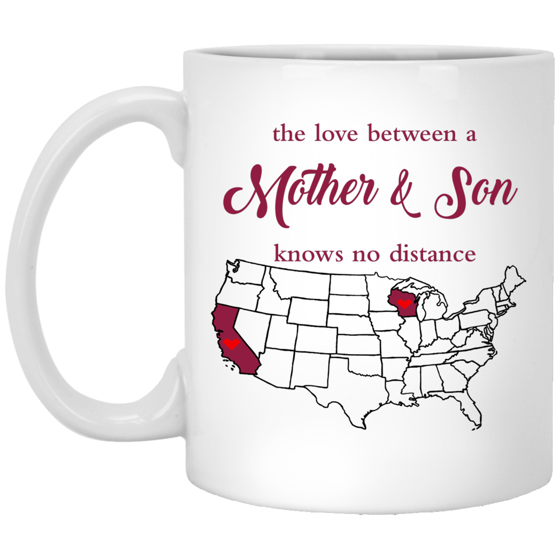 Wisconsin California Mother And Son Mug