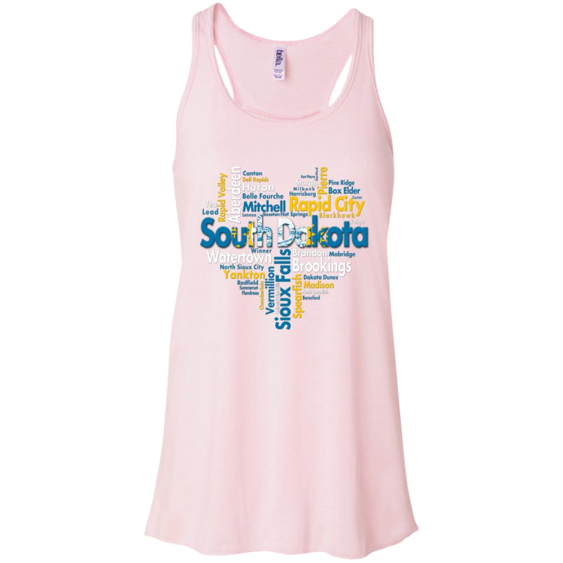 South Dakota City Heart Tank Top
