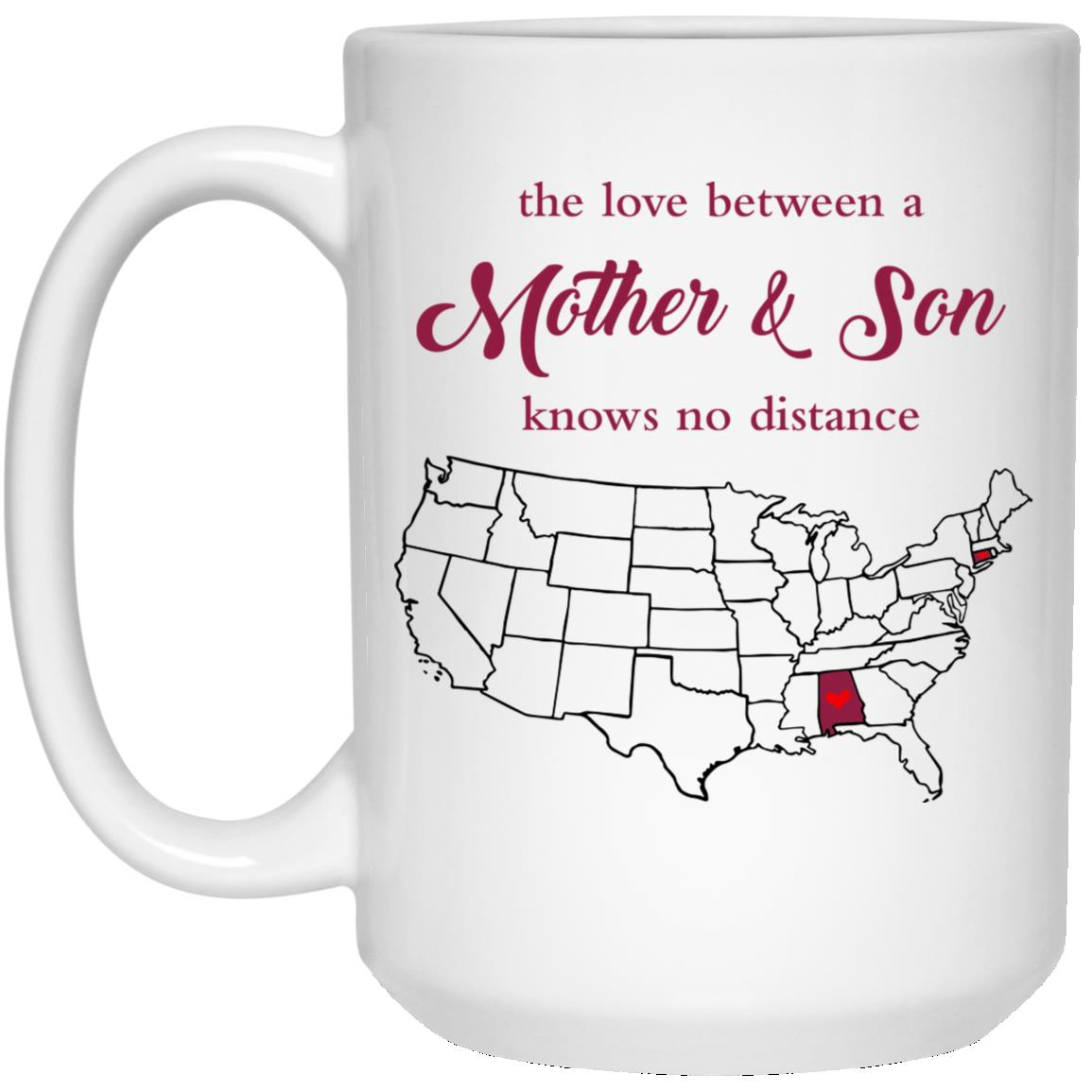 Connecticut Alabama The Love Between Mother And Son Mug